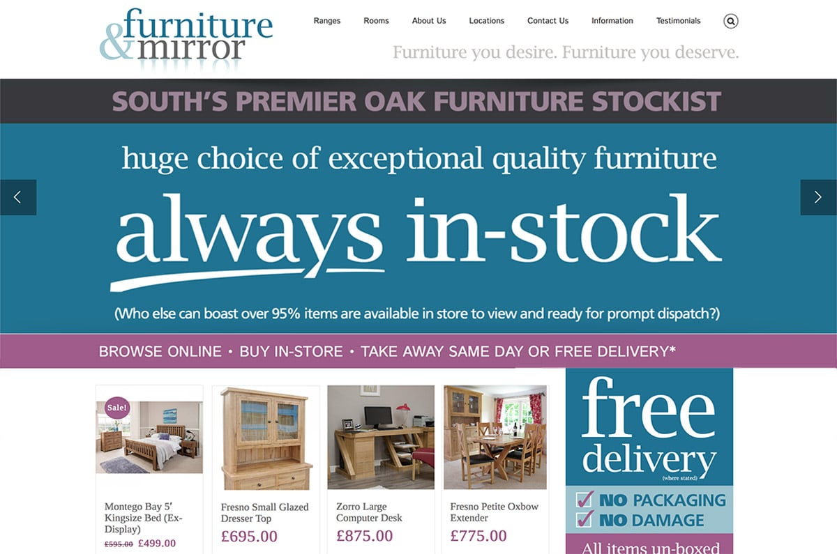 Furniture & Mirror Web Site