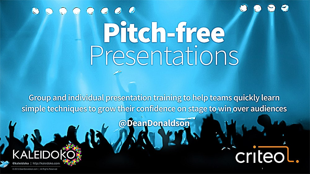 Pitch-free Presentation Training