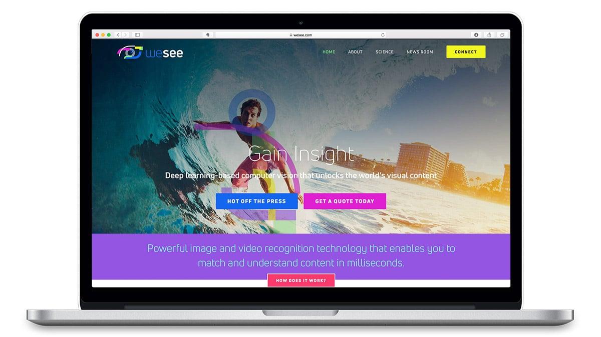 wesee AI homepage