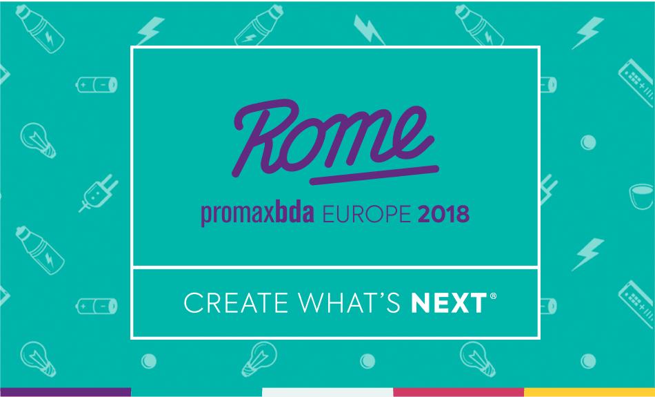 Promaxbda europe conference Rome 2018